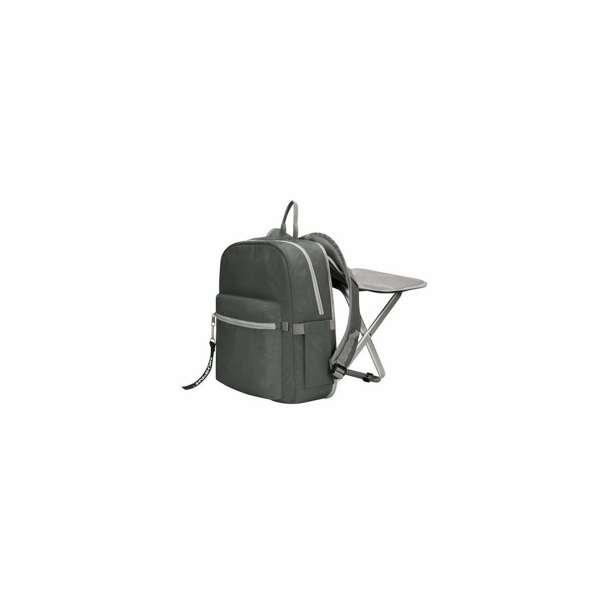BigTron Ultralight Backpack Stool Combo - Compact Lightweight Backpack and Portable Folding Cooler Chair- Perfect for Camping Fishing Hiking Picnic Outdoor Watching Sports Events BBQ -Grey/Black