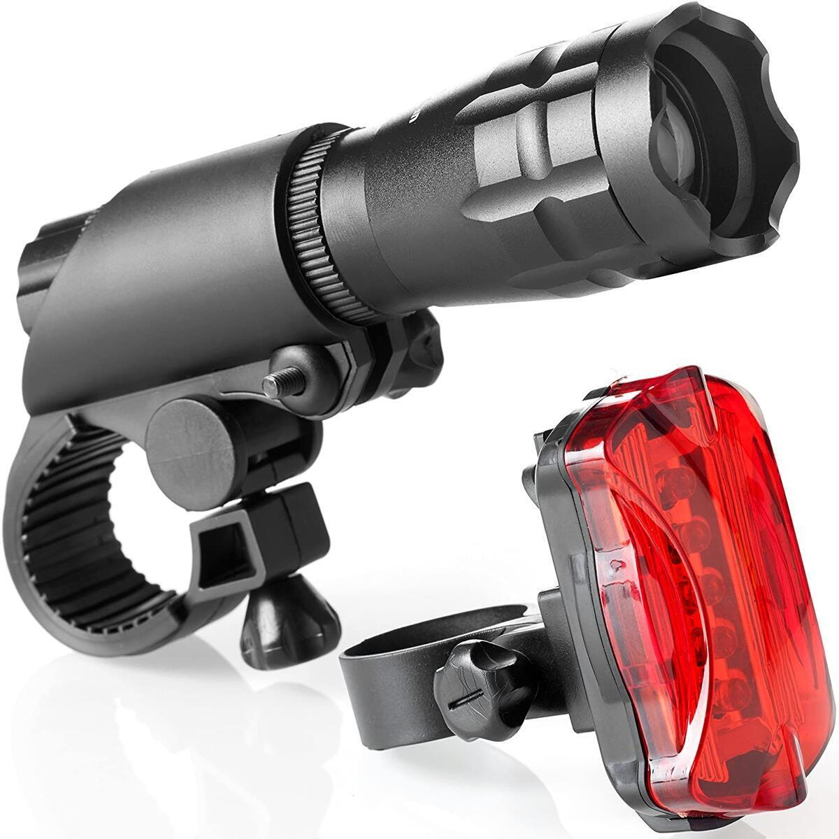 Bike Light Set - Battery Operated Front and Rear Lights - Fits Most Bicycles