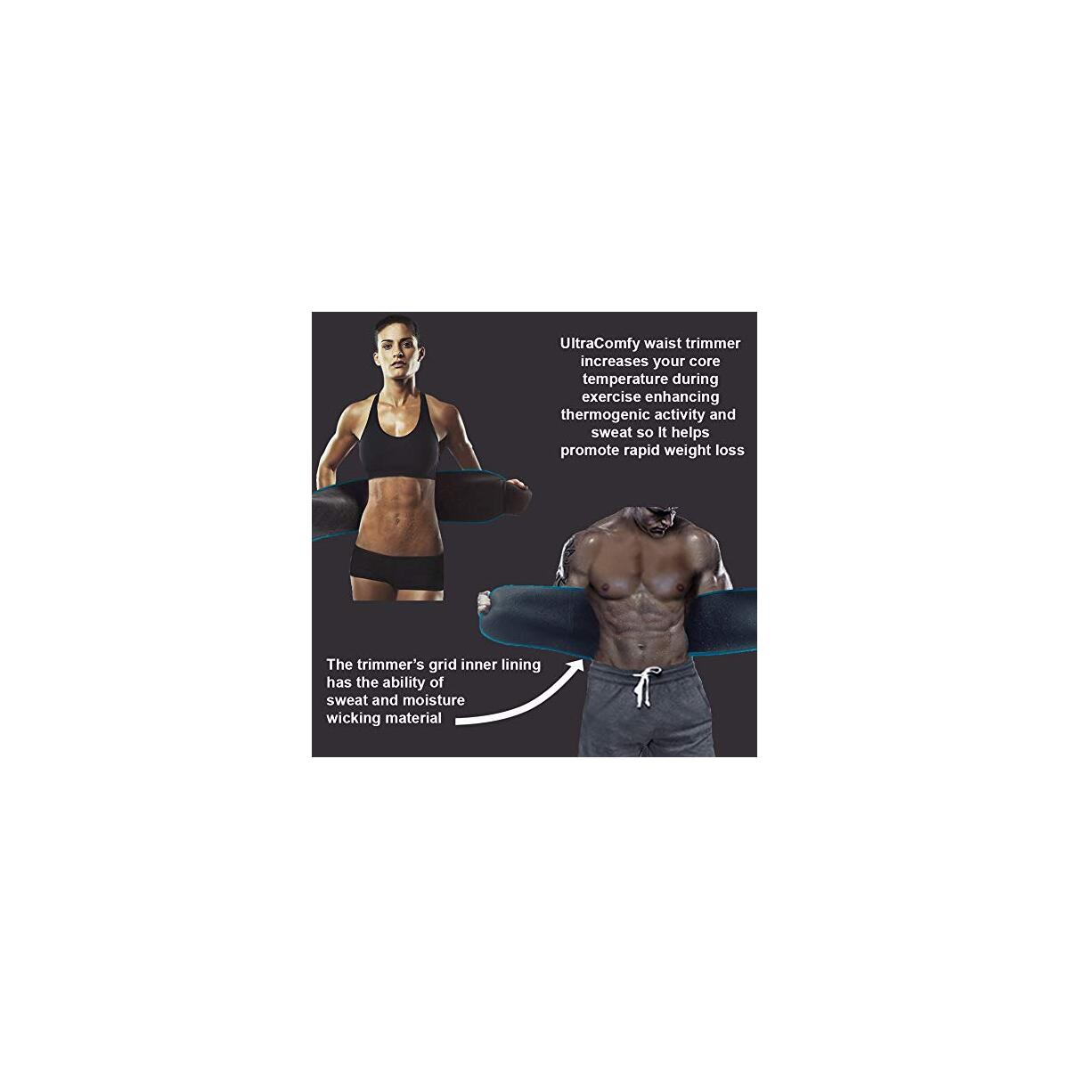 Waist Trimmer  Sweat Belt AB Belt Promotes Weight Loss Burn Calories Increase Metabolism (Rebate 48% OFF applies to this STYLE ONLY)