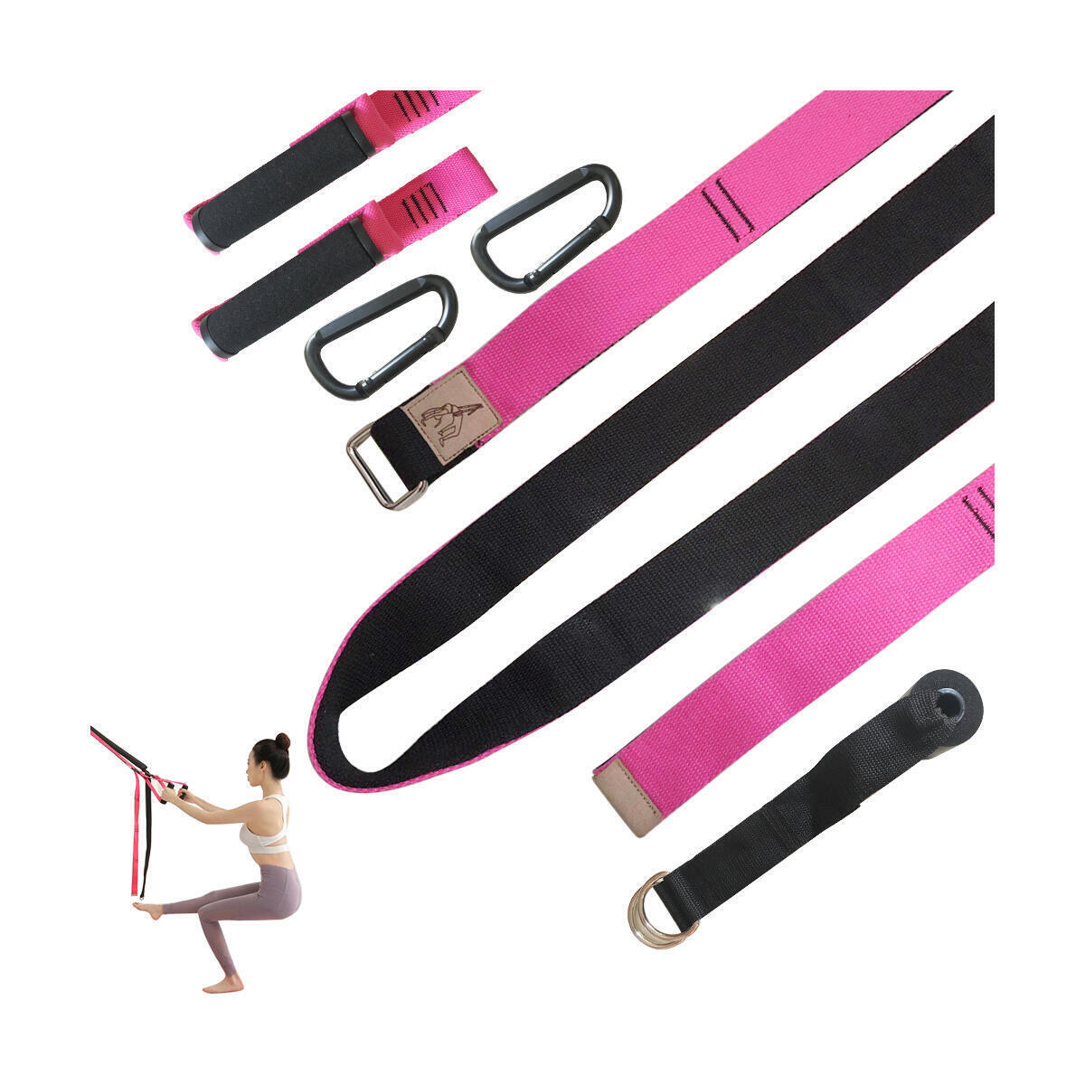 Home Gym, Multifunctional Bodyweight Resistance Straps and Yoga Training Including Training Posters