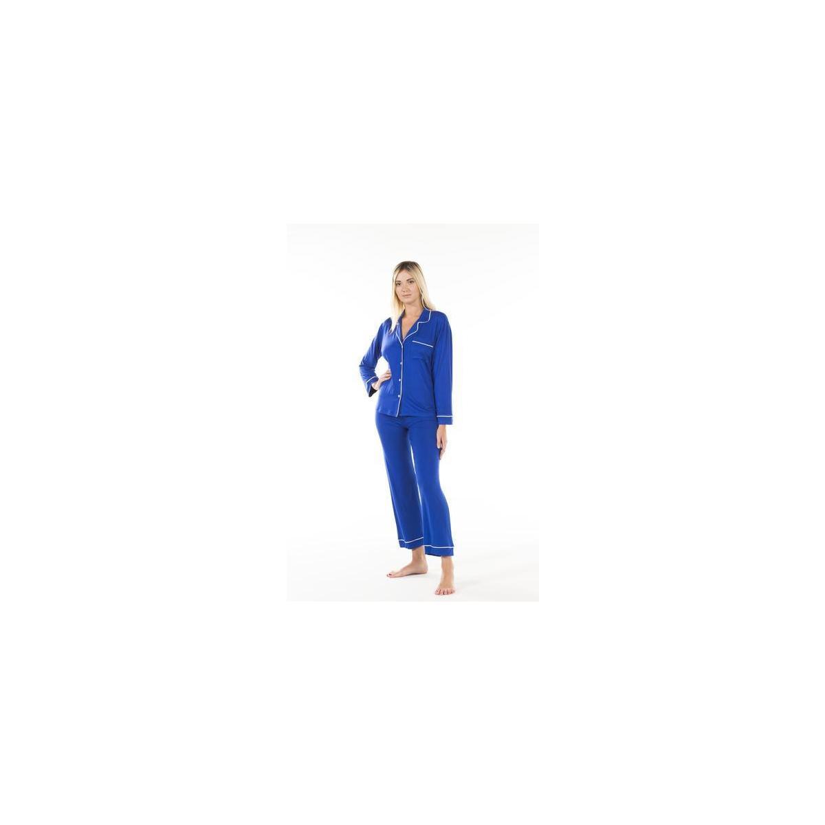 Women's Pajamas Set (All Colors: Black, Heather, Navy, Dark Red, Blue, Purple, Green)