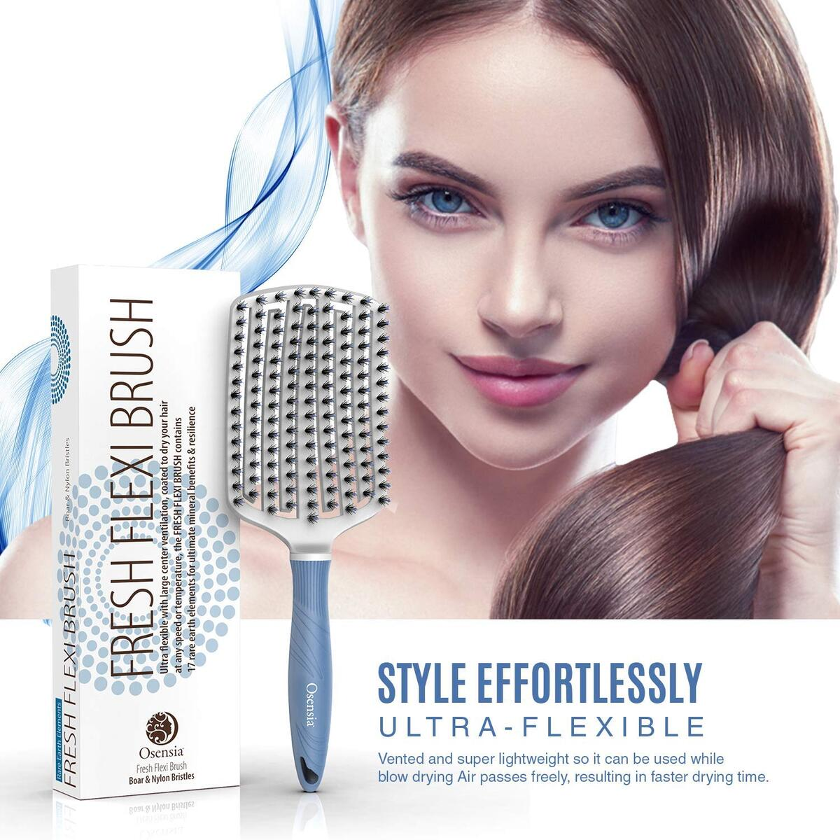 Best Selling Curly Hair Brush for Thick Hair Boar Bristle Flexi Brush