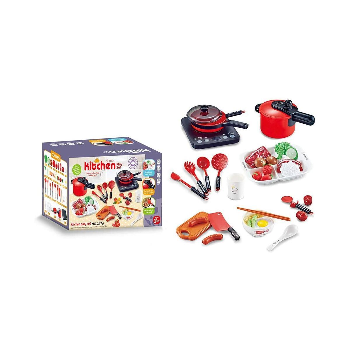 Kids Kitchen Playset - SOWOW Toddler Kitchen Playset plastic game kitchen Pretend Cooking Toys Set children chef kitchen pretend game Kitchen Playset for Kids Baby Infant Role Play Educational Toy