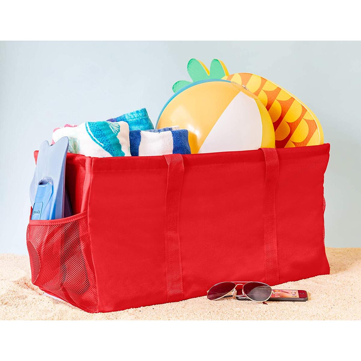 Extra Large Utility Tote Bag - Red