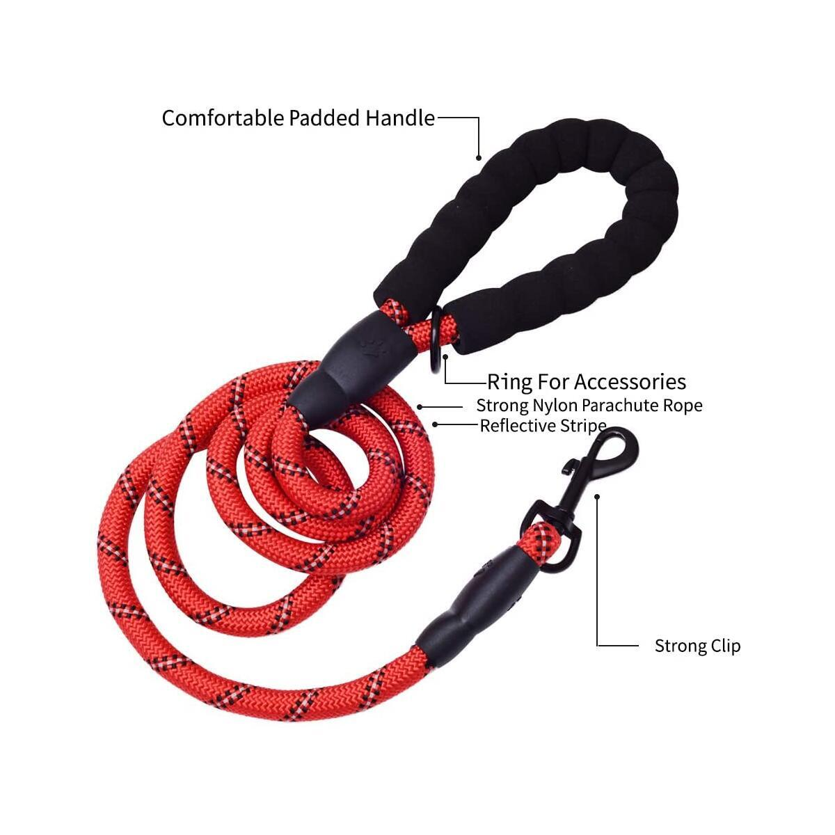 Nylon Rope Leash for Medium & Large Dogs