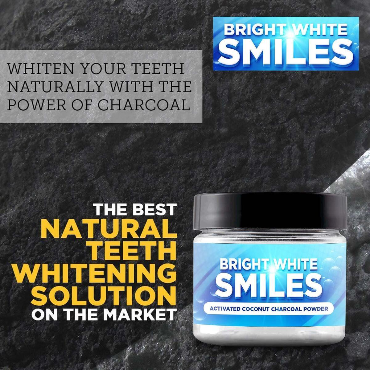 Bright White Smiles Natural Teeth Whitening Activated Charcoal Powder