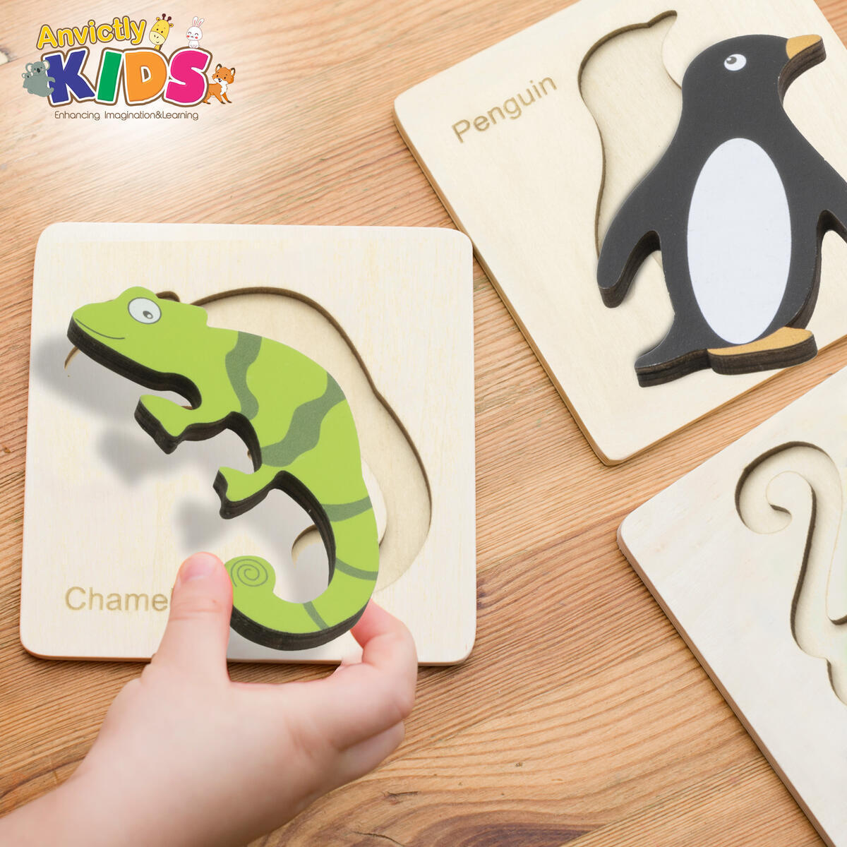 Wooden Animal Puzzles 4in1