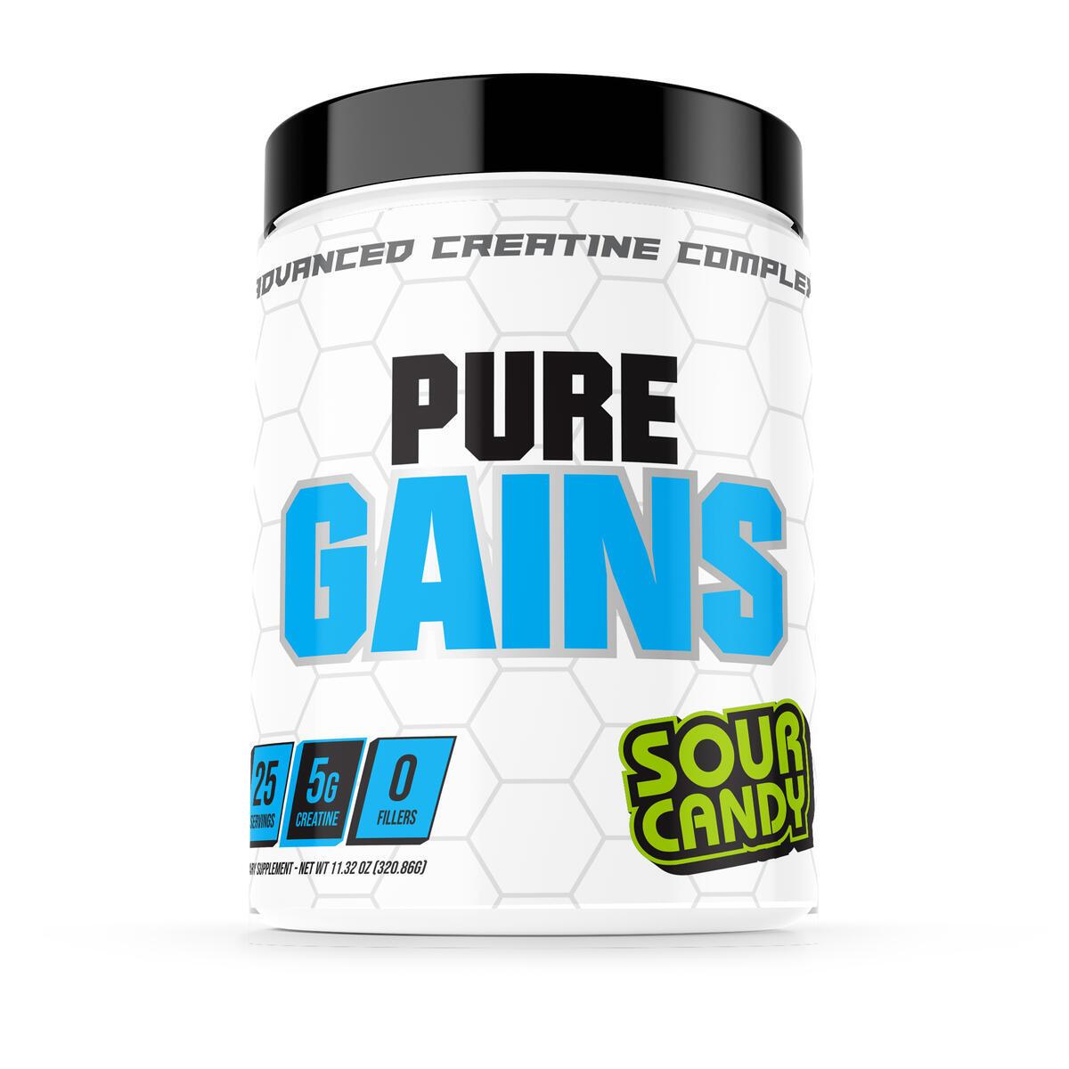 Pure Gains Creatine Powder & Muscle Builder