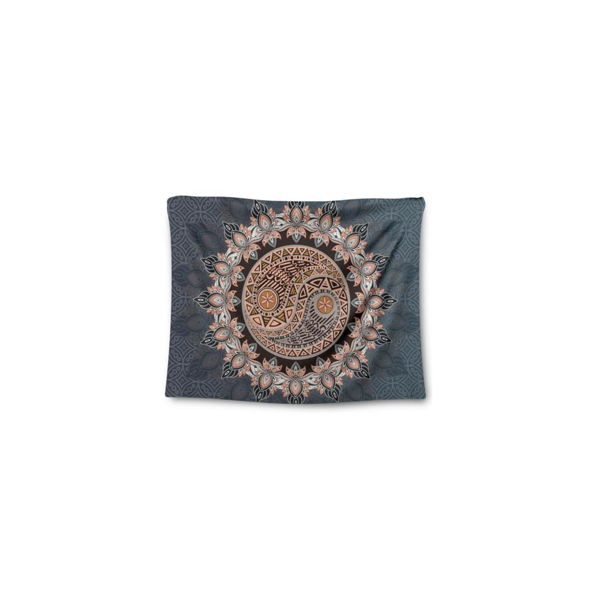 Mandala Tapestry Wall Hanging, 60 x 80 in, Boho Decor for Dorm, Living Room or Bedroom