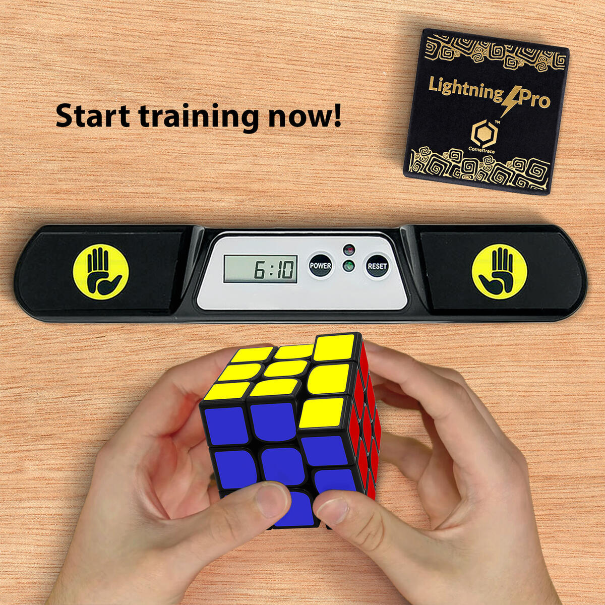 Cornertrace LightningPro: Competition Speed Cube, Durable and Quicker than Original, Best Magic Game Toy for Kids
