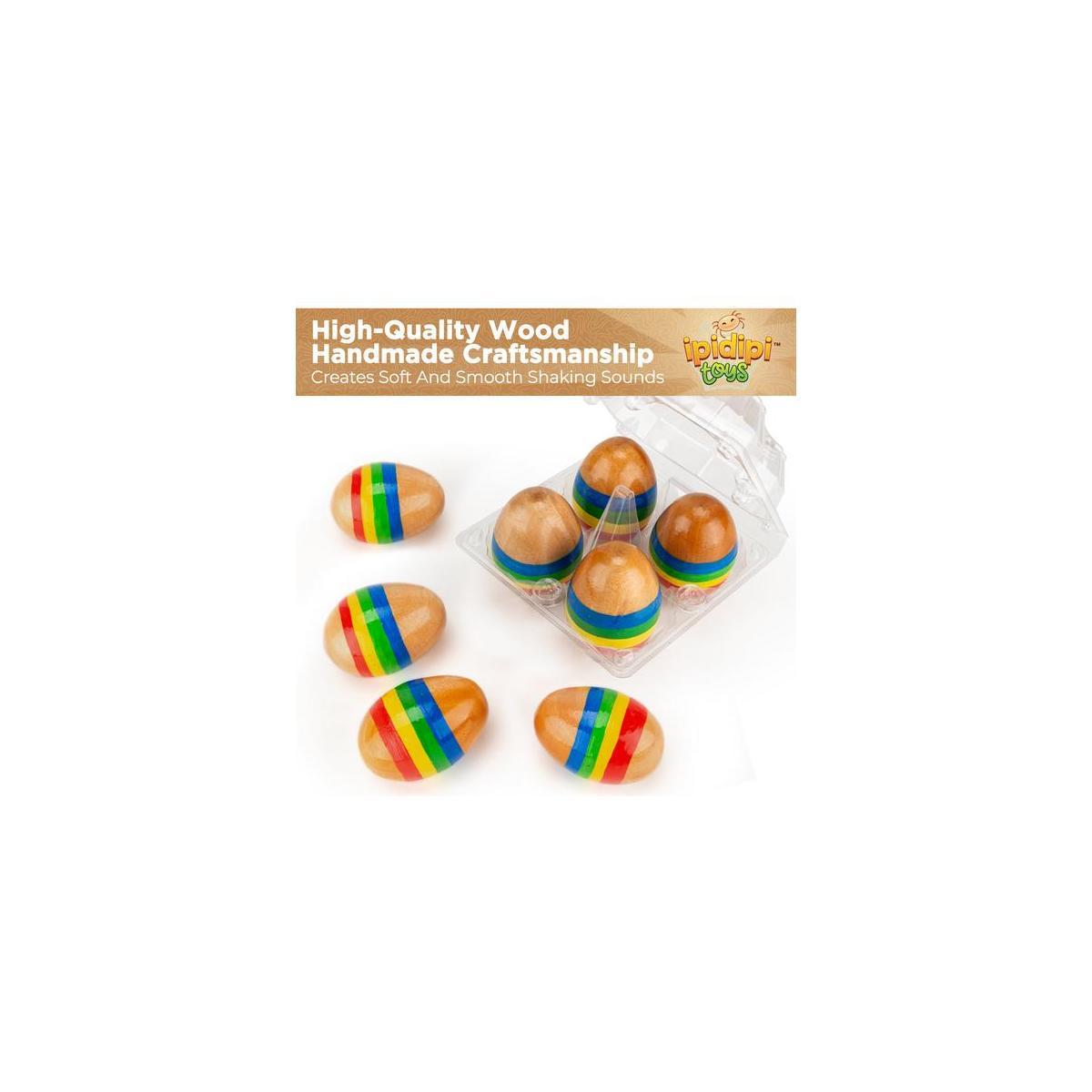 Funky Egg Musical Handmade Shakers Maracas for Kids 4 -Pack
