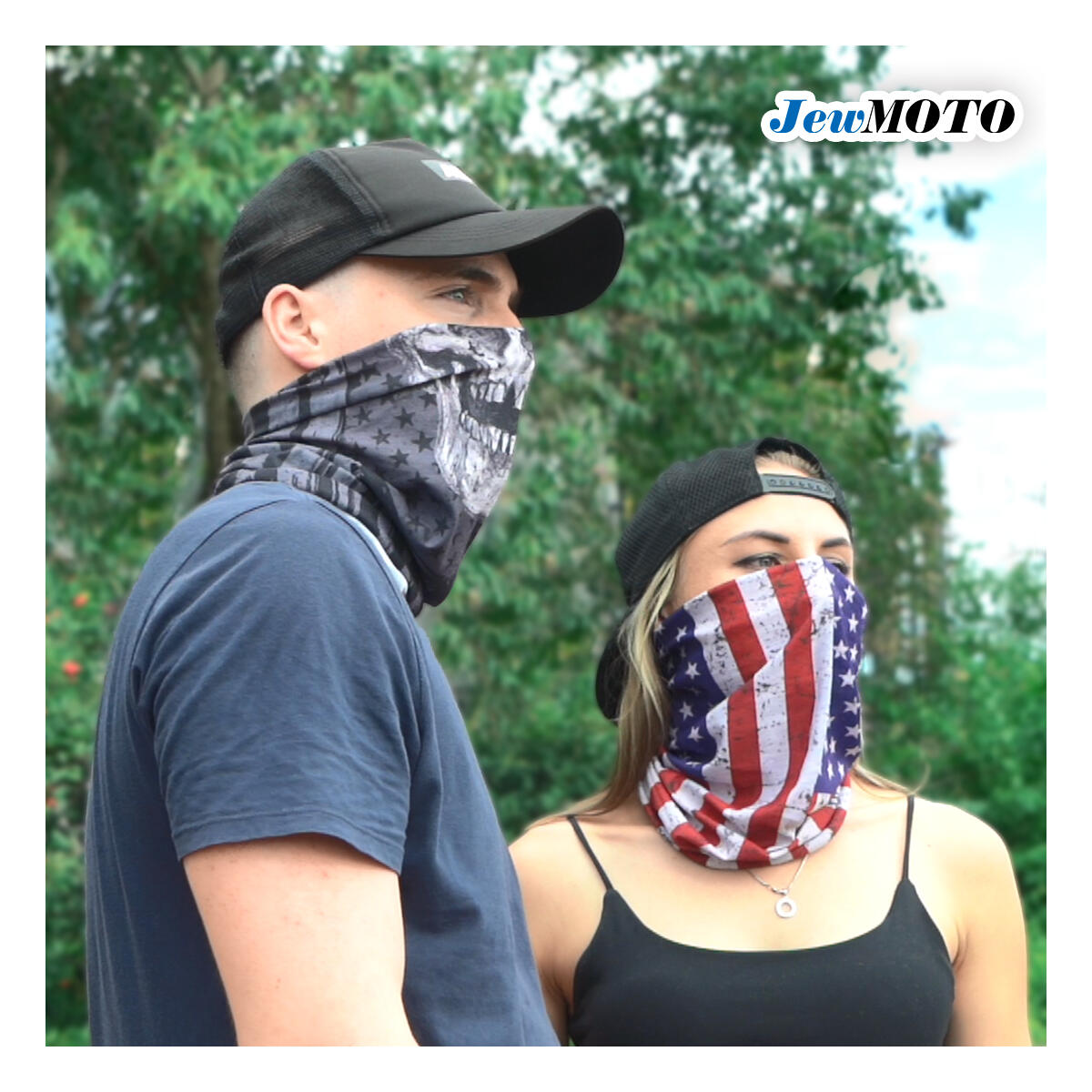 Neck Gaiter 6 Pack – Multipurpose Bandanas, Balaclava, Face Shield, Elastic Face Mask Reusable, Face Cover for Men and Women - 12+ Ways to Wears