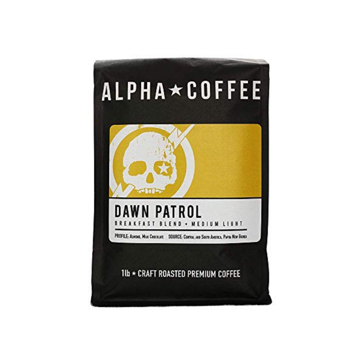 Alpha Coffee - Dawn Patrol - 1 LB Premium Gourmet Craft Light Roast Drip Grind Coffee | Veteran Owned - Specialty Small Batch Roasted Coffee | 100% Arabica Beans (Breakfast Blend)