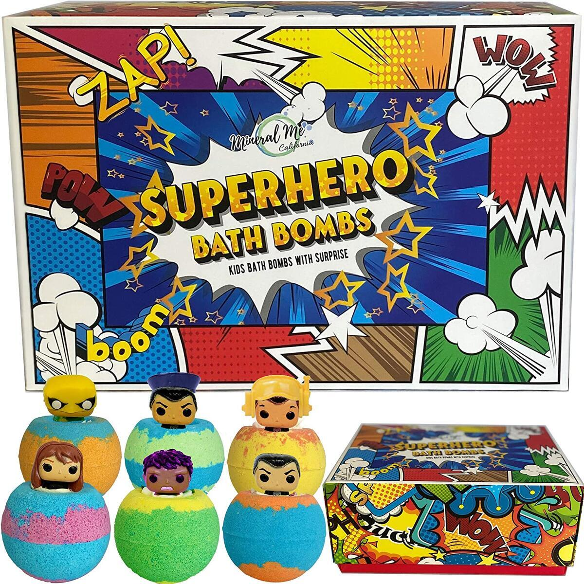 Superhero Bath Bombs for Kids with Surprise Toys