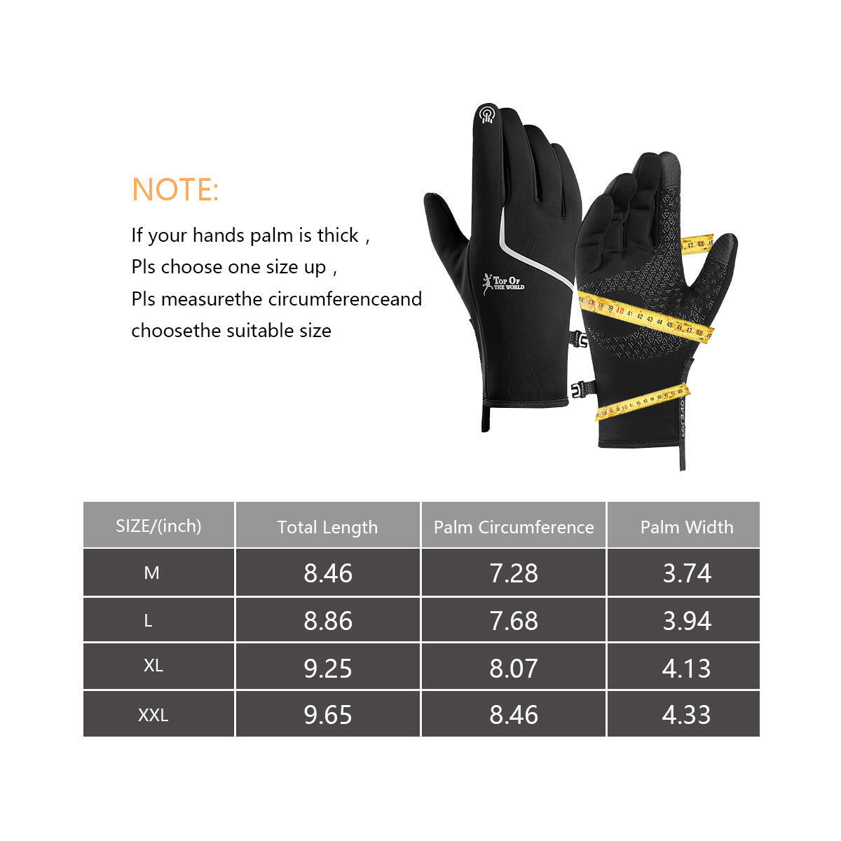 Winter Gloves for Men and Women- Touch Screen Gloves Waterproof Anti-Slip Silicone Thermal Gloves with Polar Fleece and Portable Buckle Warm Gloves for Biking Climbing Hiking Cycling Driving