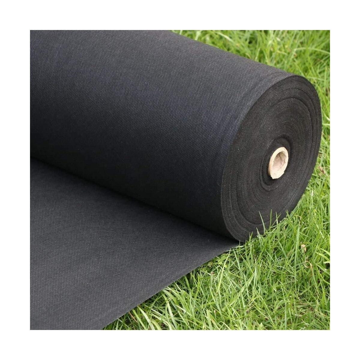 FLARMOR Pro Garden Landscape Fabric Heavy Duty - French Cloth Ground Cover One Roll 4x300 ft 1.8 oz