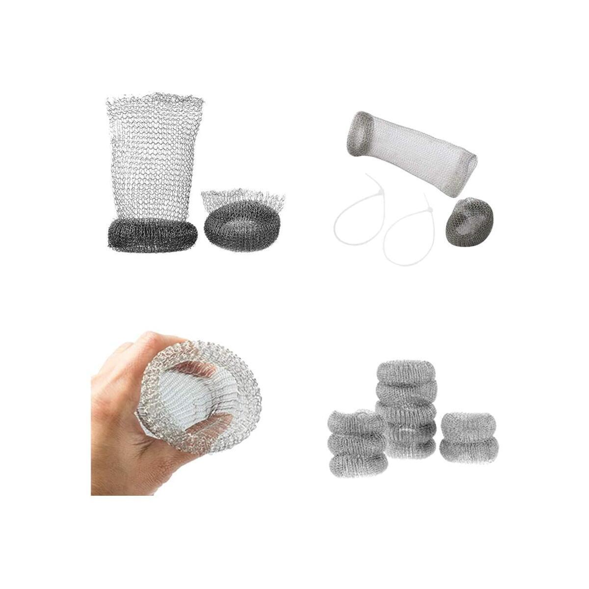 Lint Traps Washing Machine, 60 Pcs with Zip Ties, 304 Stainless Steel Snare Washer Hose Dog Hair Catcher, Never Rust