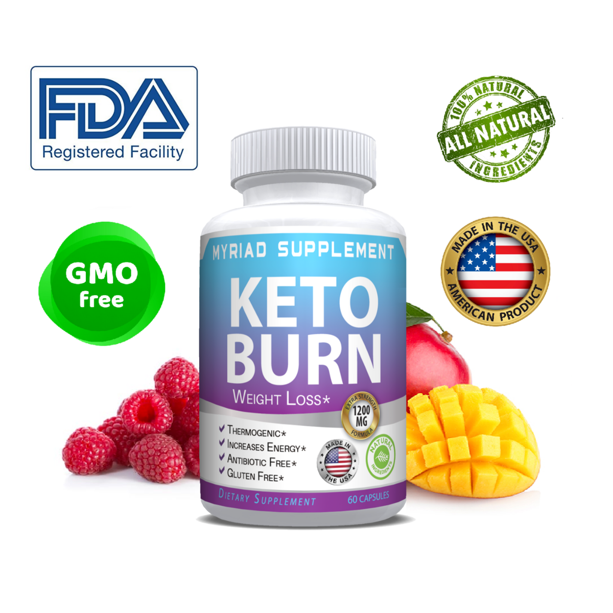Keto BURN Diet Pills 1200 MG Ketosis Weight Loss Supplements To Burn Fat & Carb