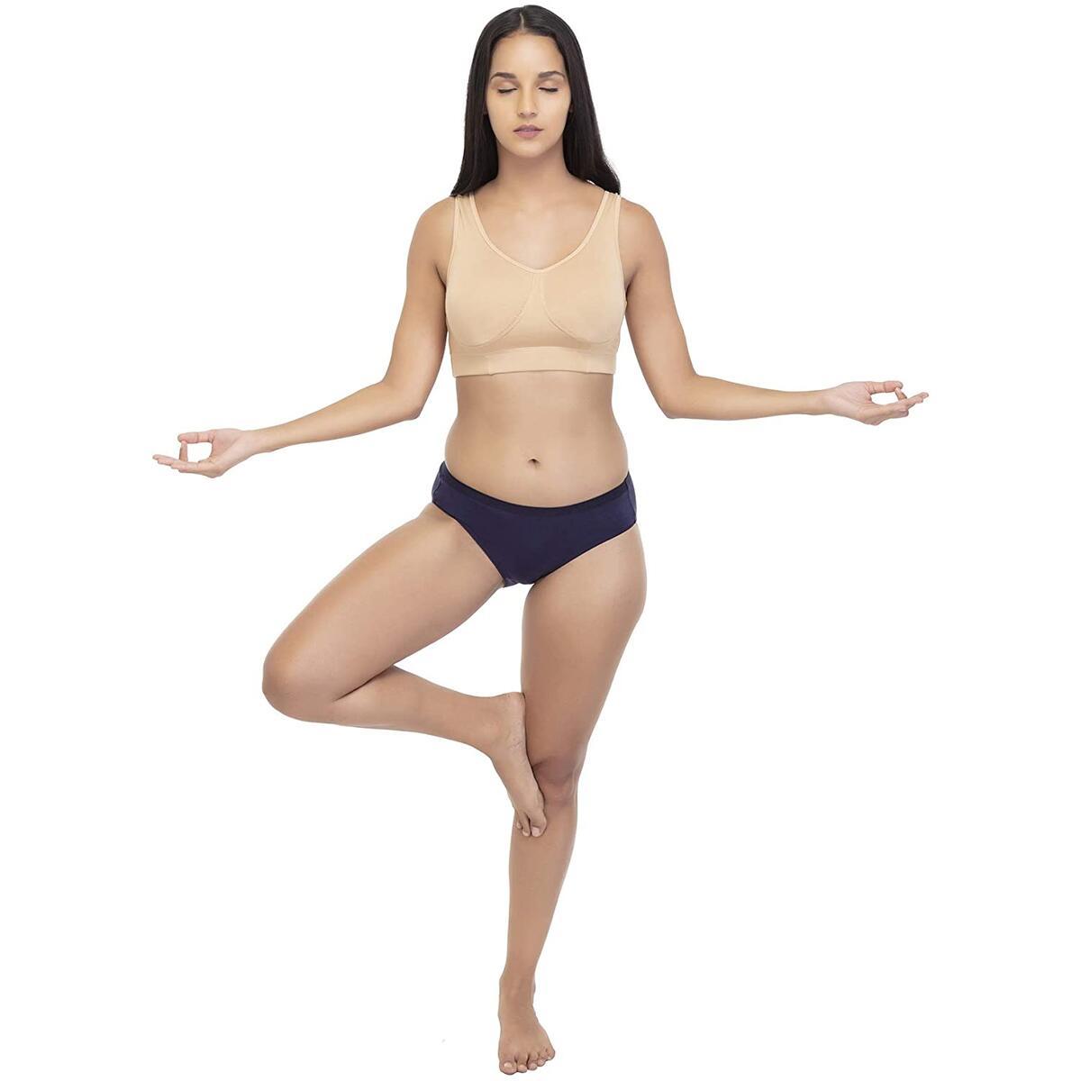 Irotica Sleep Bra for Women, Seamless Stretchy Sports Bra, Yoga Bra, Post Surgery Bra, White, Skin, Pink (Small, Medium, Large, X-Large, XX-Large)