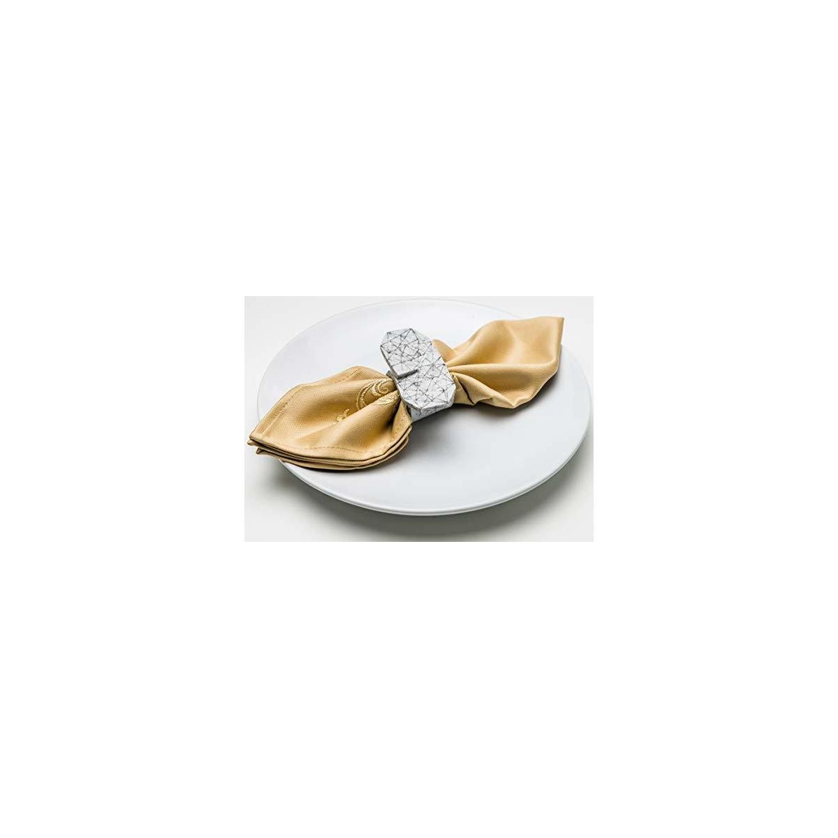 Napkin Ring Set for Wedding