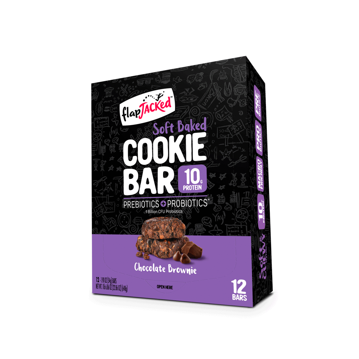 Chocolate Brownie Cookie Bar - 12 Pack
