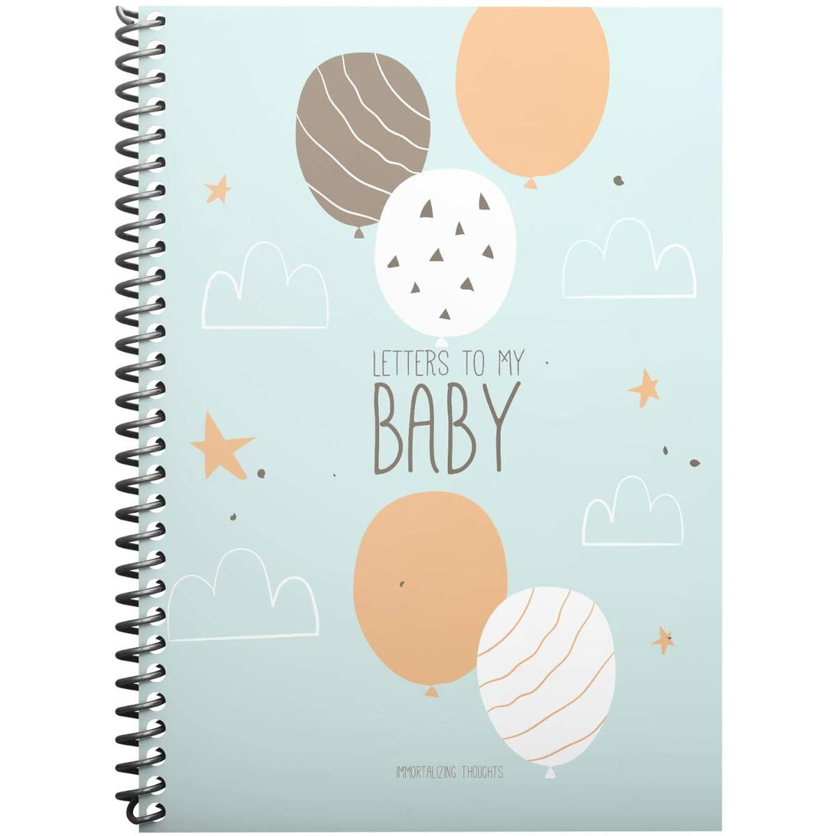 Letters to My Baby: Personalized Baby Books for Newborn, Memorial Time Capsule for Childs and a Journal Book, Write Now and Read Later, 6x8 inches, 30 Pages, Removable Sheets and Stickers Included