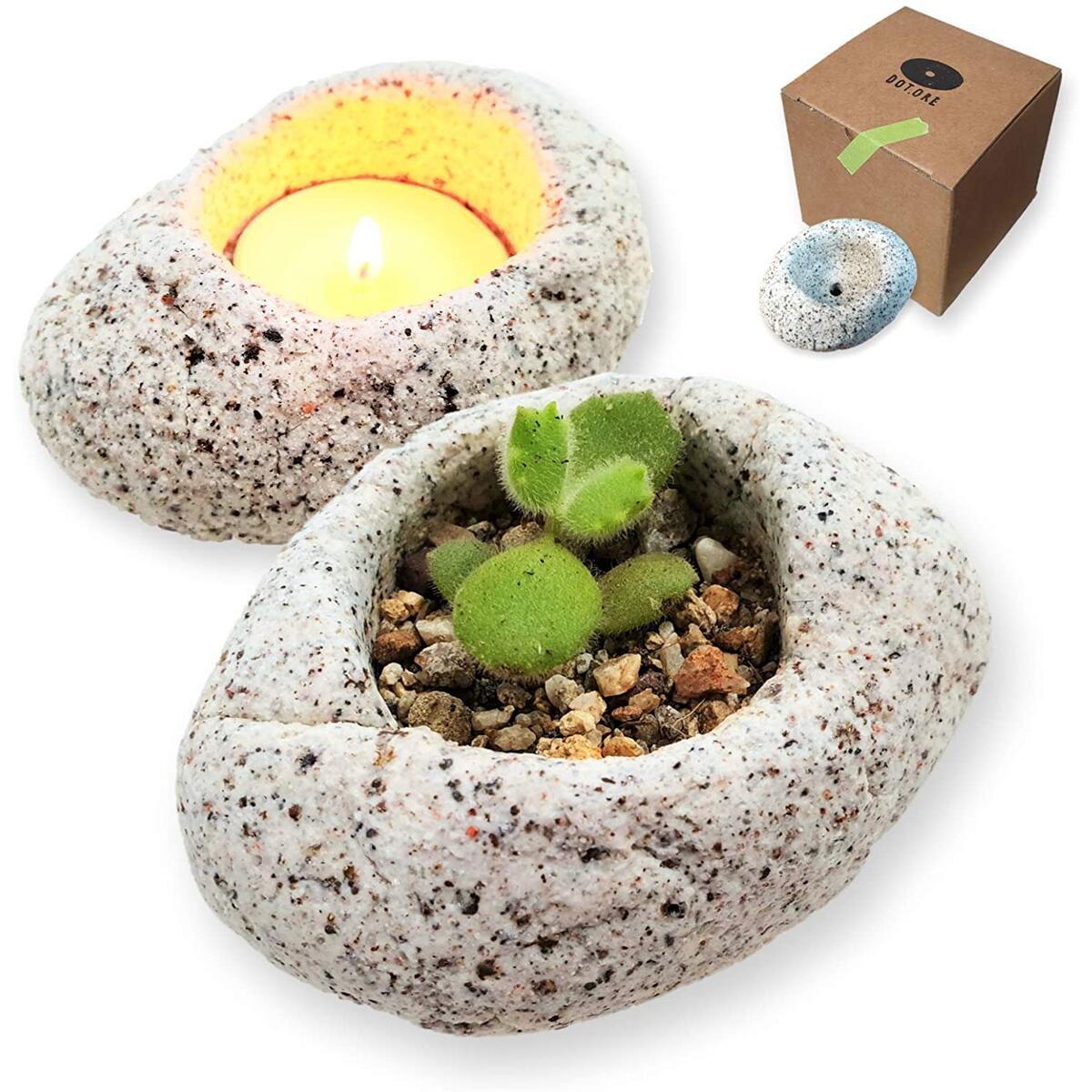 Succulent Planter Pot Drainage - Tealight Candle Holder