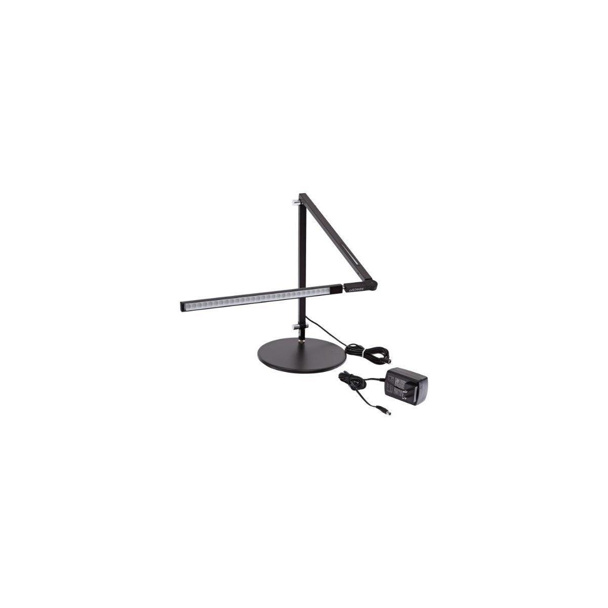 Koncept AR3100-W-MBK-DSK Z-Bar Mini LED Desk Lamp, Warm Light, Metallic Black