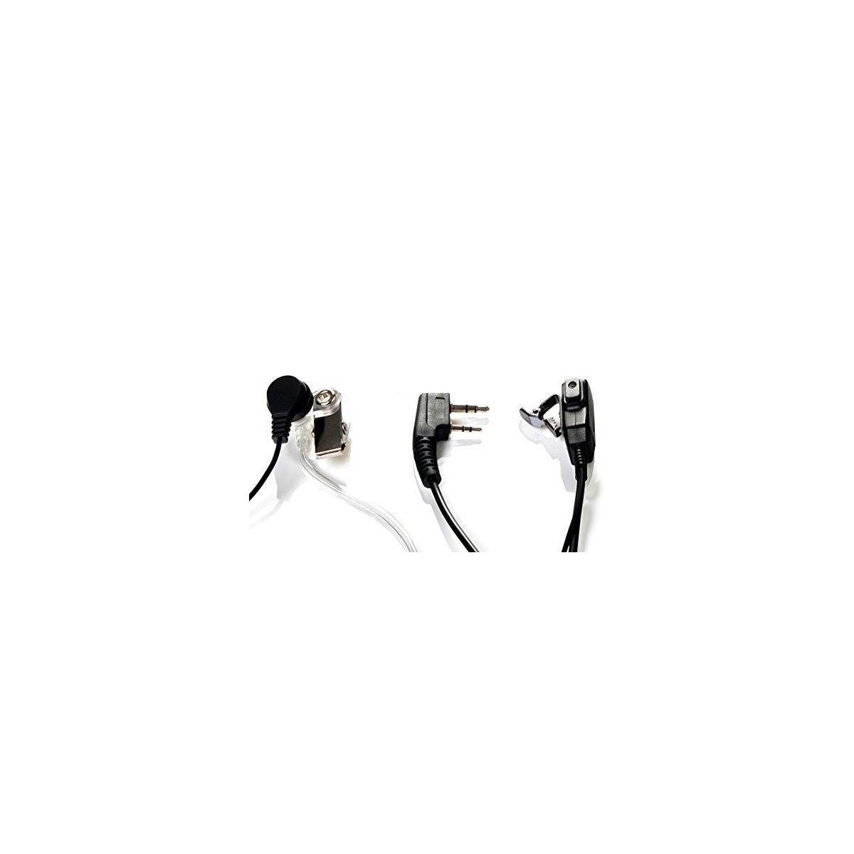 Radio earpiece 2-Pin, (4 Pack) Covert Acoustic Tube,  Walkie Talkie Headset for Kenwood Baofeng Puxing Wouxun TYT Retevis Procter.