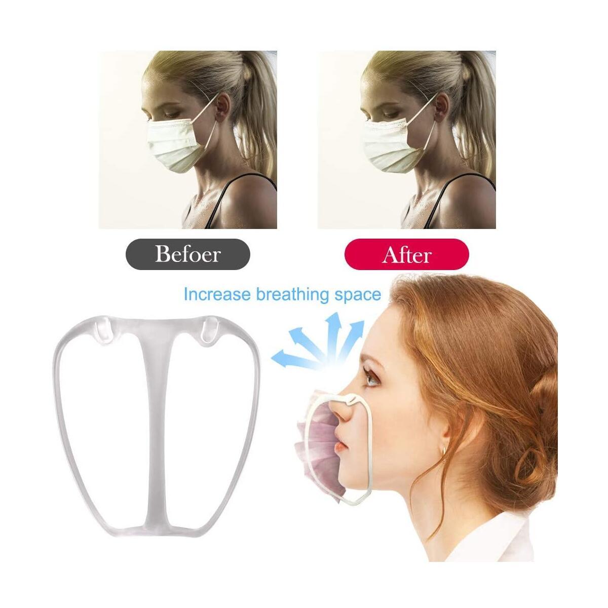 2/5/10pcs 3D Mask Bracket Inner Support Frame - 3D Bracket Comfortable Face_Mask Wearing - Lipstick Bracket Protector for Macks Bracket Support Frame Silicone Maske Extender Straps