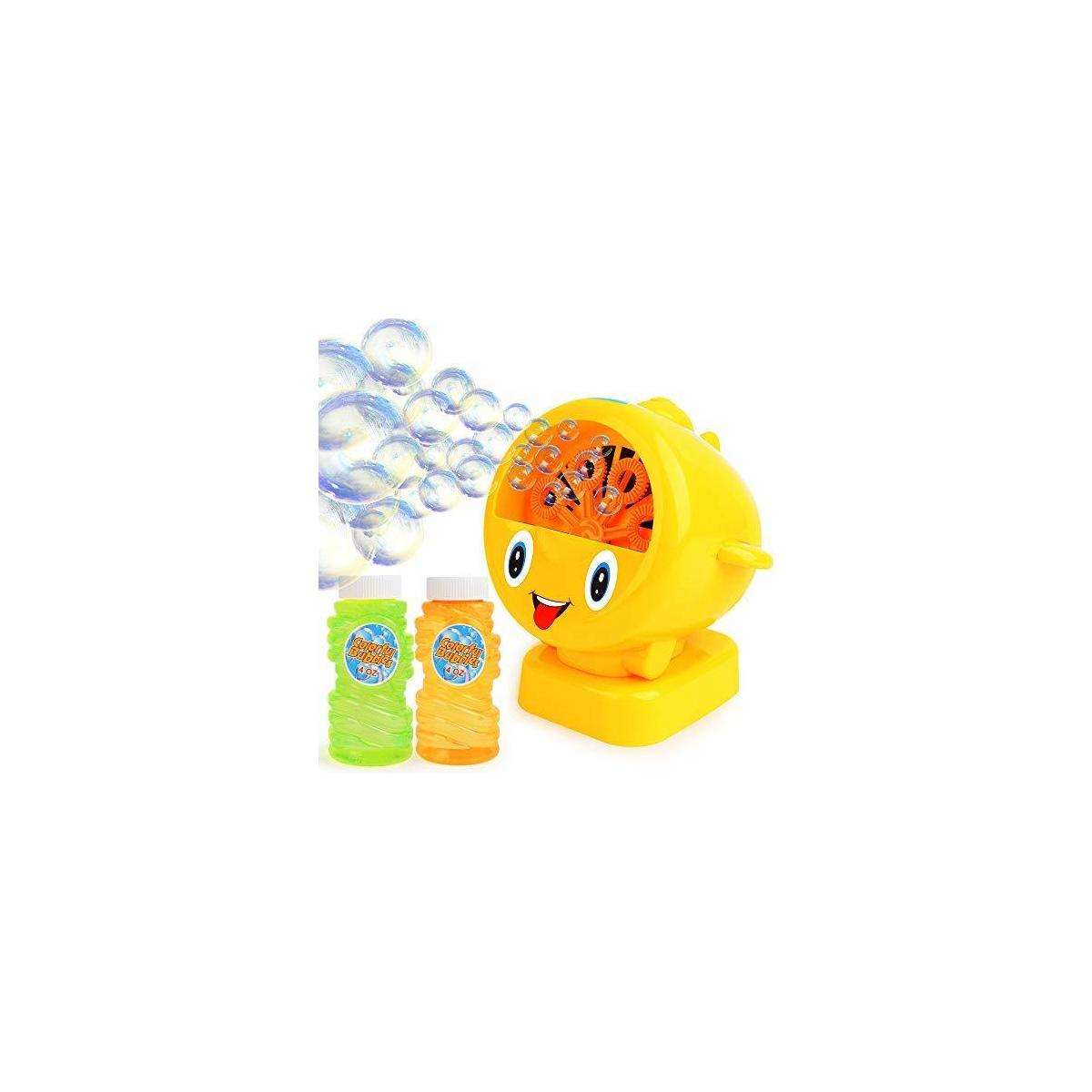Automatic Bubble Machine for Kids – Battery Operated, Easy To Use  Bubble Toy for Kid and Adults - Gift Ideas for Kids Includes 4oz Bubble Solution – up to 500 Bubbles per Minute – Indoor and Outdoors