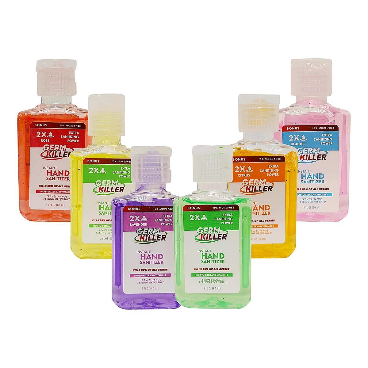 Scented Hand Sanitizer Gel [6 Pack, Assorted] Hand Sanitizer, Scented Portable Pocket Size Flavored Hand Sanitizer Gel Pack