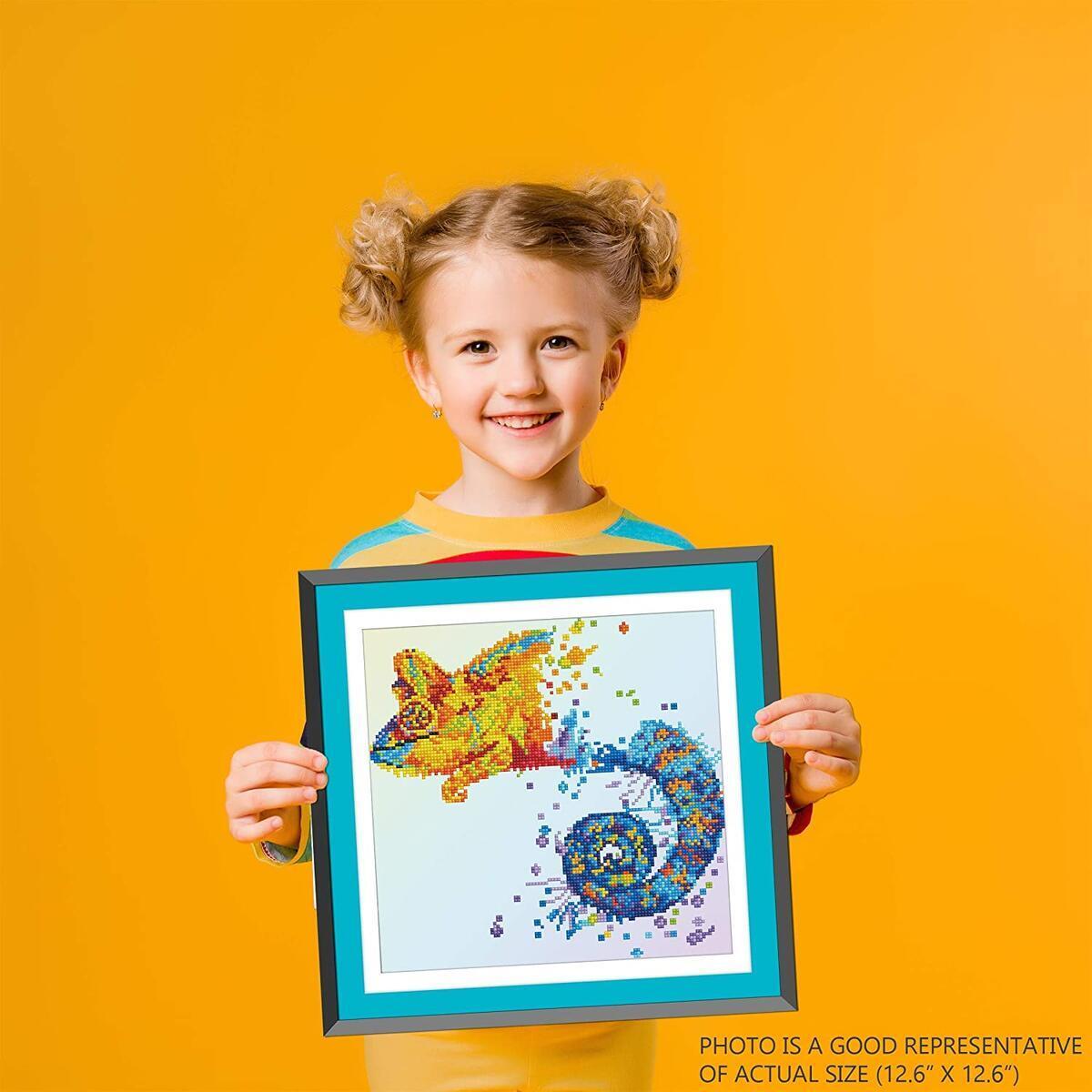 Iguana Diamond Art for Kids Diamond Painting Craft Kit