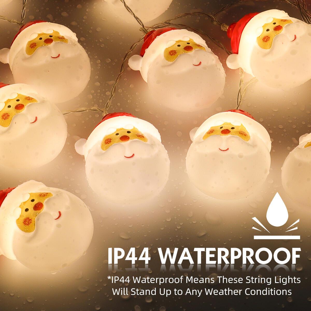 Christmas String Lights Waterproof 20 LEDs 9.84ft, LED Santa String Lights DIY Lights Decorations for Indoor Outdoor Decor Home Garden Wedding Party Xmas Tree