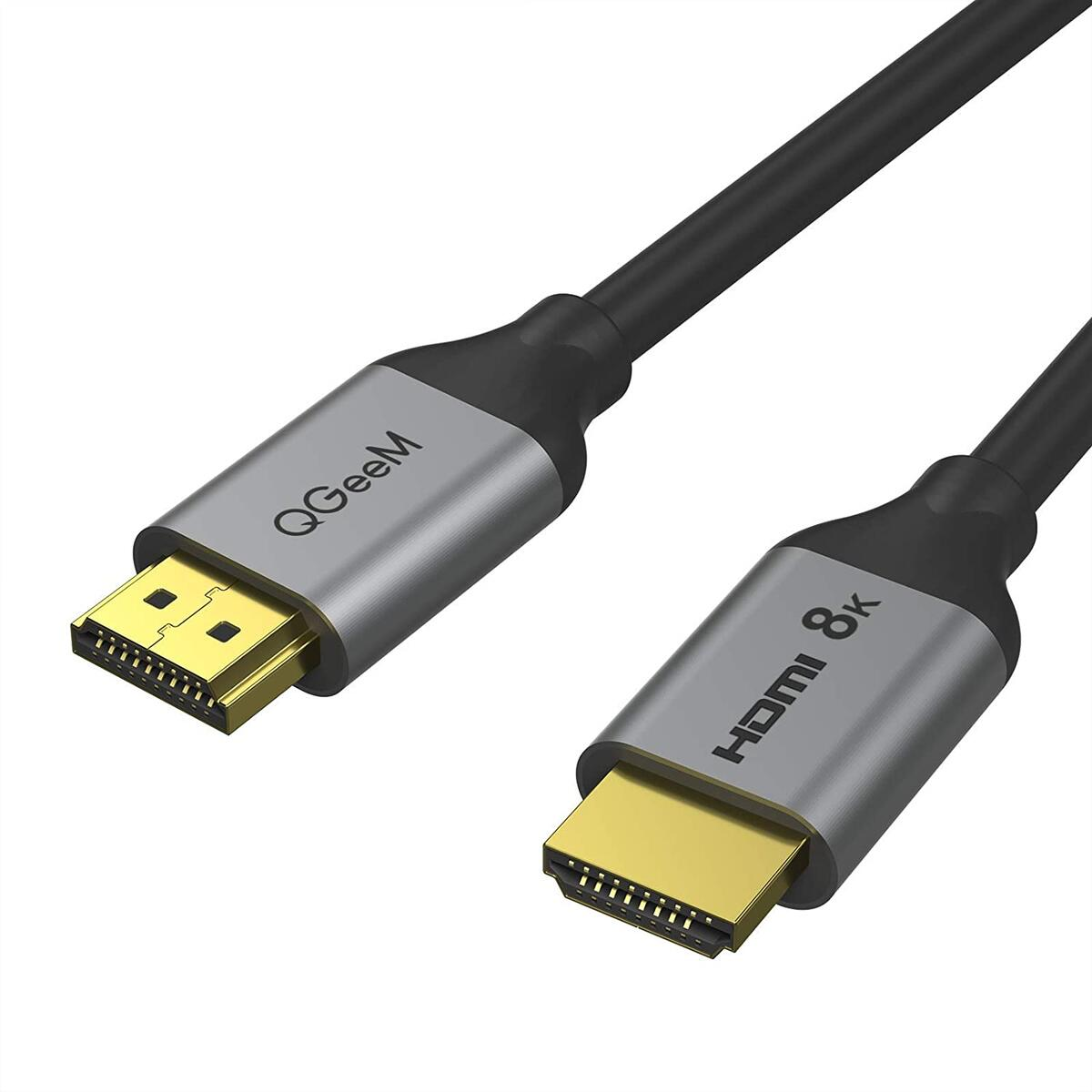 HDMI 2.1 Cable 8K@60Hz 3FT,QGeeM 48Gbps Ultra High Speed HDMI Cord,Compatible with Apple TV,Roku,Samsung QLED,Sony LG,Nintendo Switch,Playstation,PS5,PS4,Xbox One Series X,HDMI 8k Ultra HD Cable