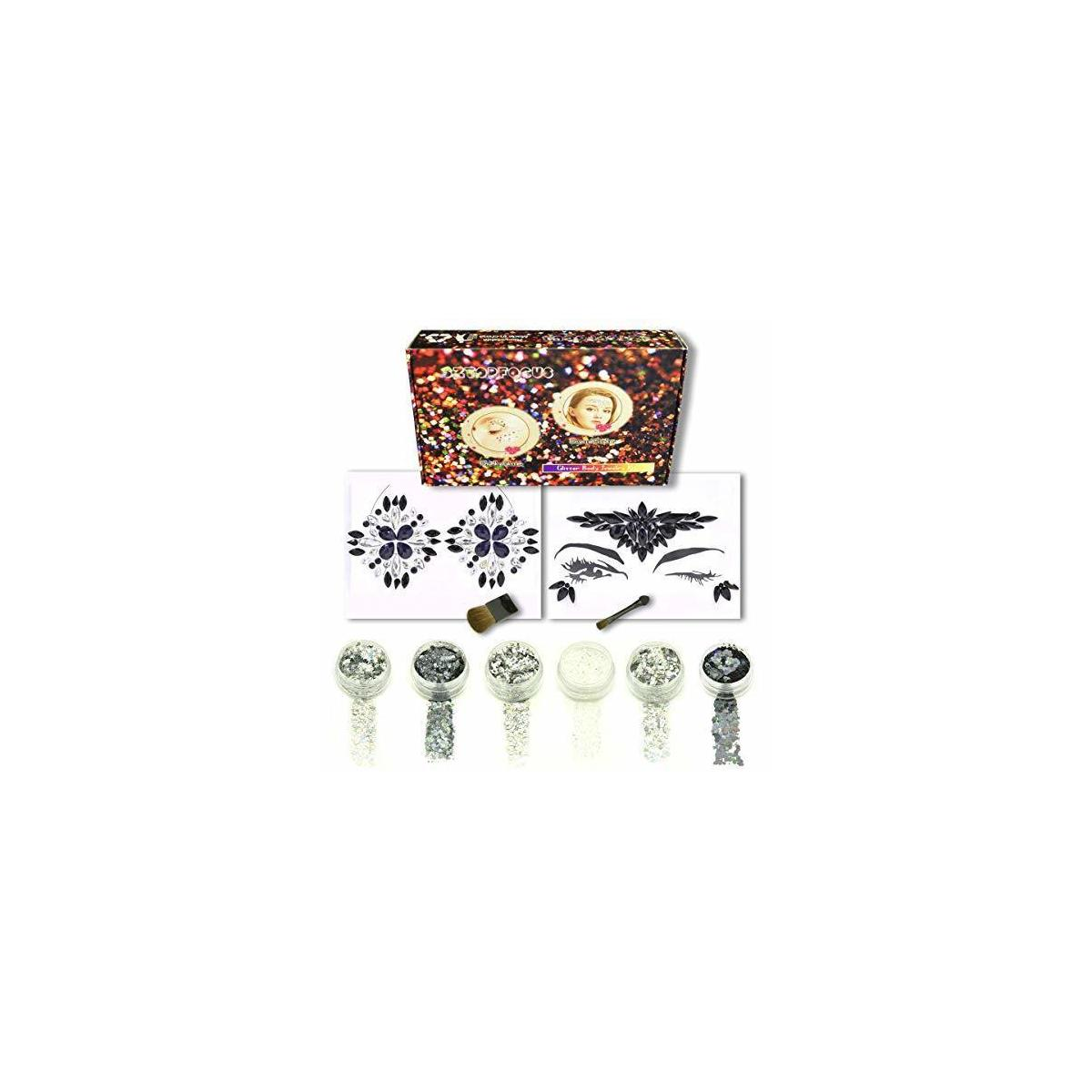 Body Glitters With Face Jewels Rhinestones Gems Set (GS-02)