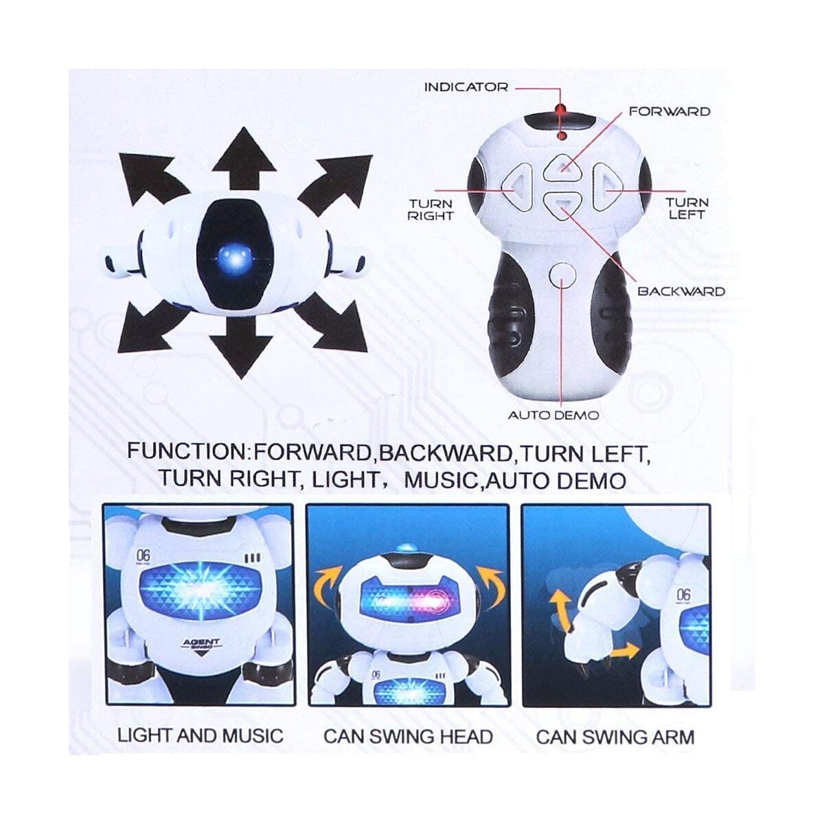 RC Robot for Kids - Electronic Learning Toys Toddler Dancing Singing Remote Control Robot Led Eyes with Music Lights