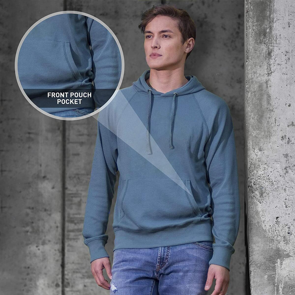 Thermal Shirts for Men Long Sleeve Hooded T Shirt-Mens Thermal Long Sleeve Shirt