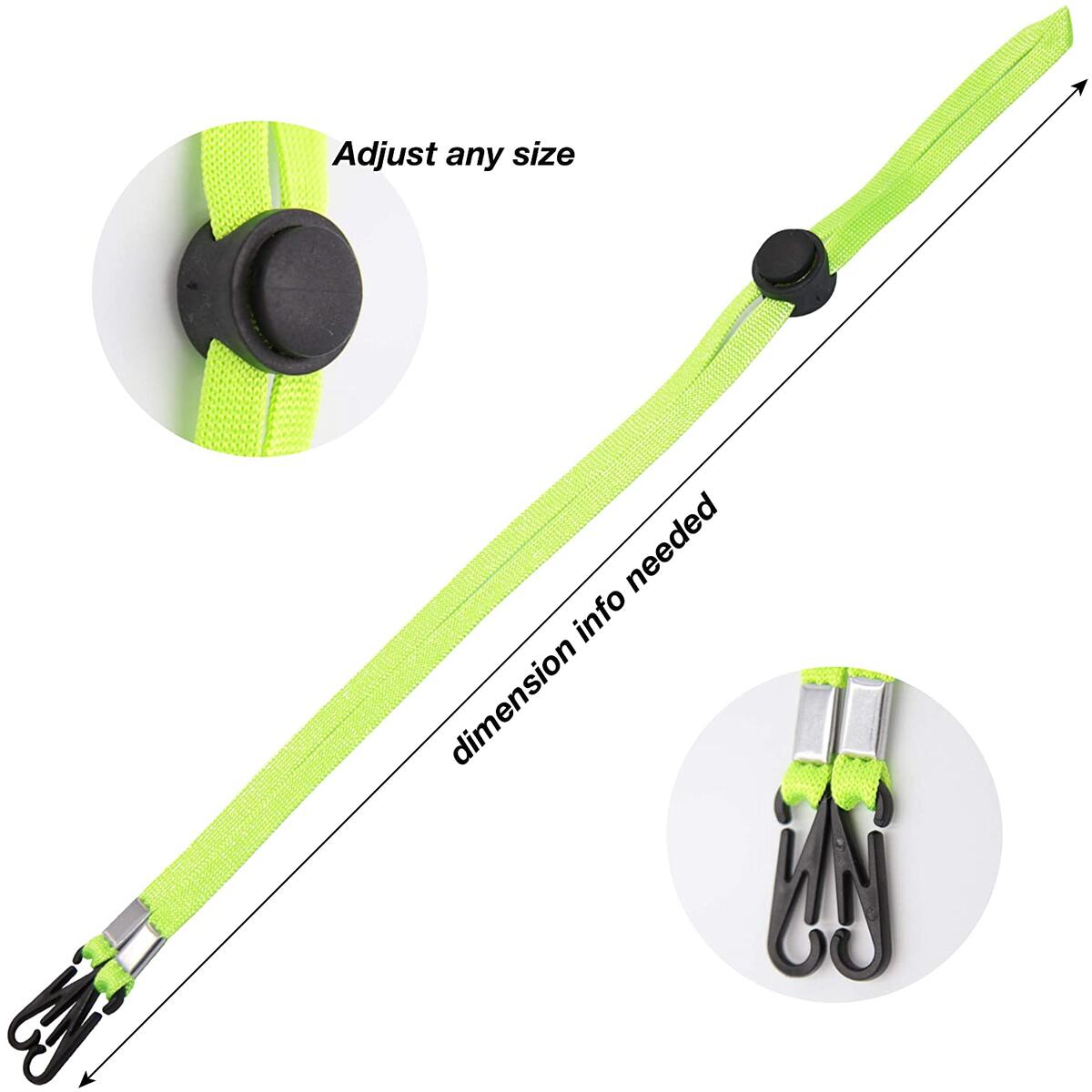 10 Pieces Unisex Adjustable Mask Lanyard for Kids, Men & Women. Mask Strap (Mask Chain, Mask Extender, Mask Clips) Keeps Clean, Your Mask. Breakaway Lanyard, 10 Pack Has Different Colors. Shield.