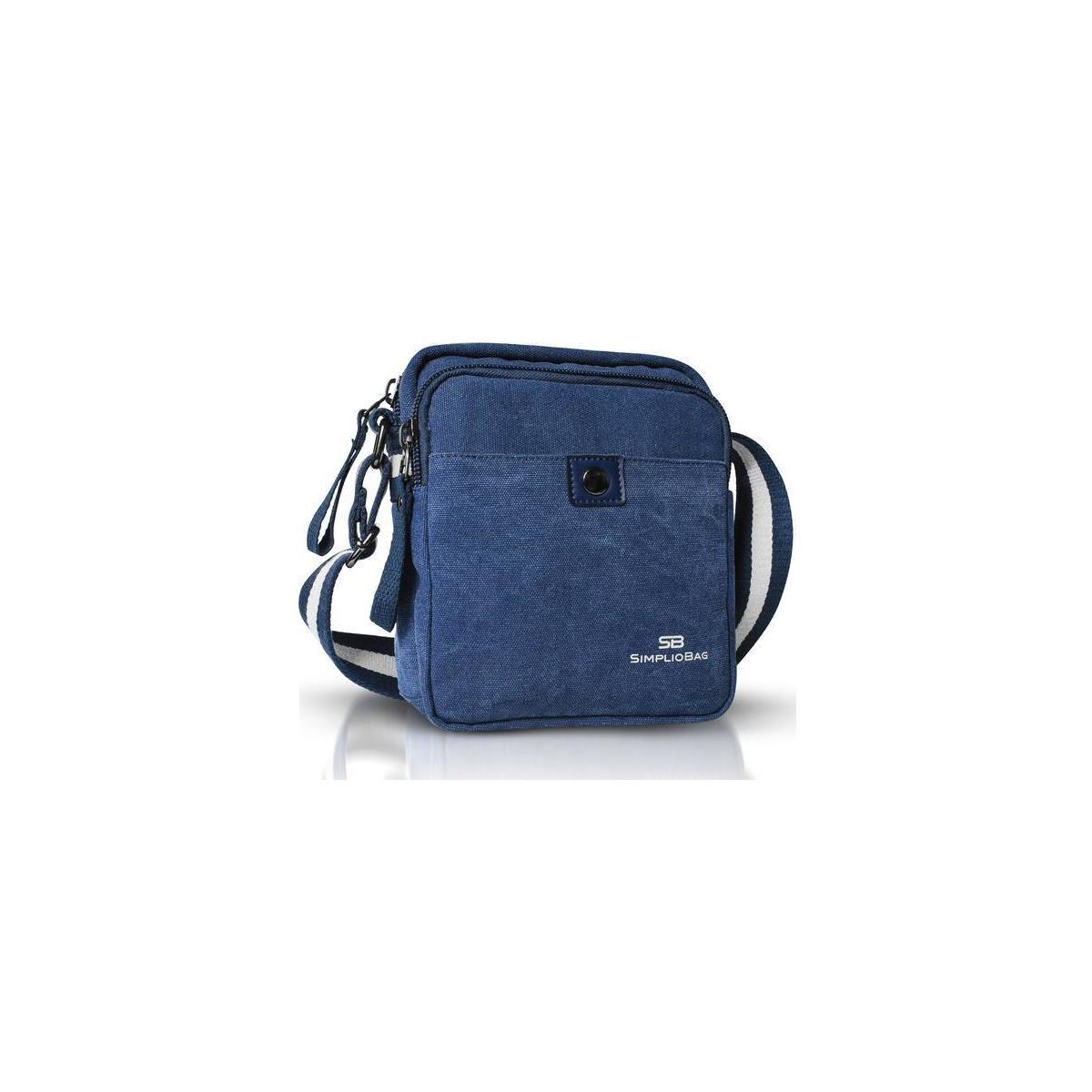 SIMPLIO Small Messenger Bag for Men   Shoulder Mini Canvas Mens Crossbody Bag for Casual Travel, Outdoor, Work & Business