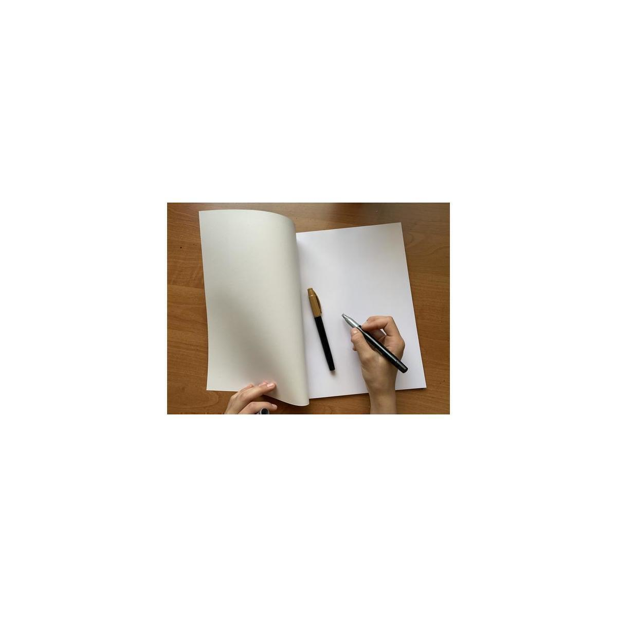 60 Pages Large Blank Books | Paperback Sketch Books for Drawing - Create Your own Art Notebook, Diary, Journal, Comic Book | Acid Free Premium 24lb Unlined Blank White Paper 98 Bright (3 Pack)