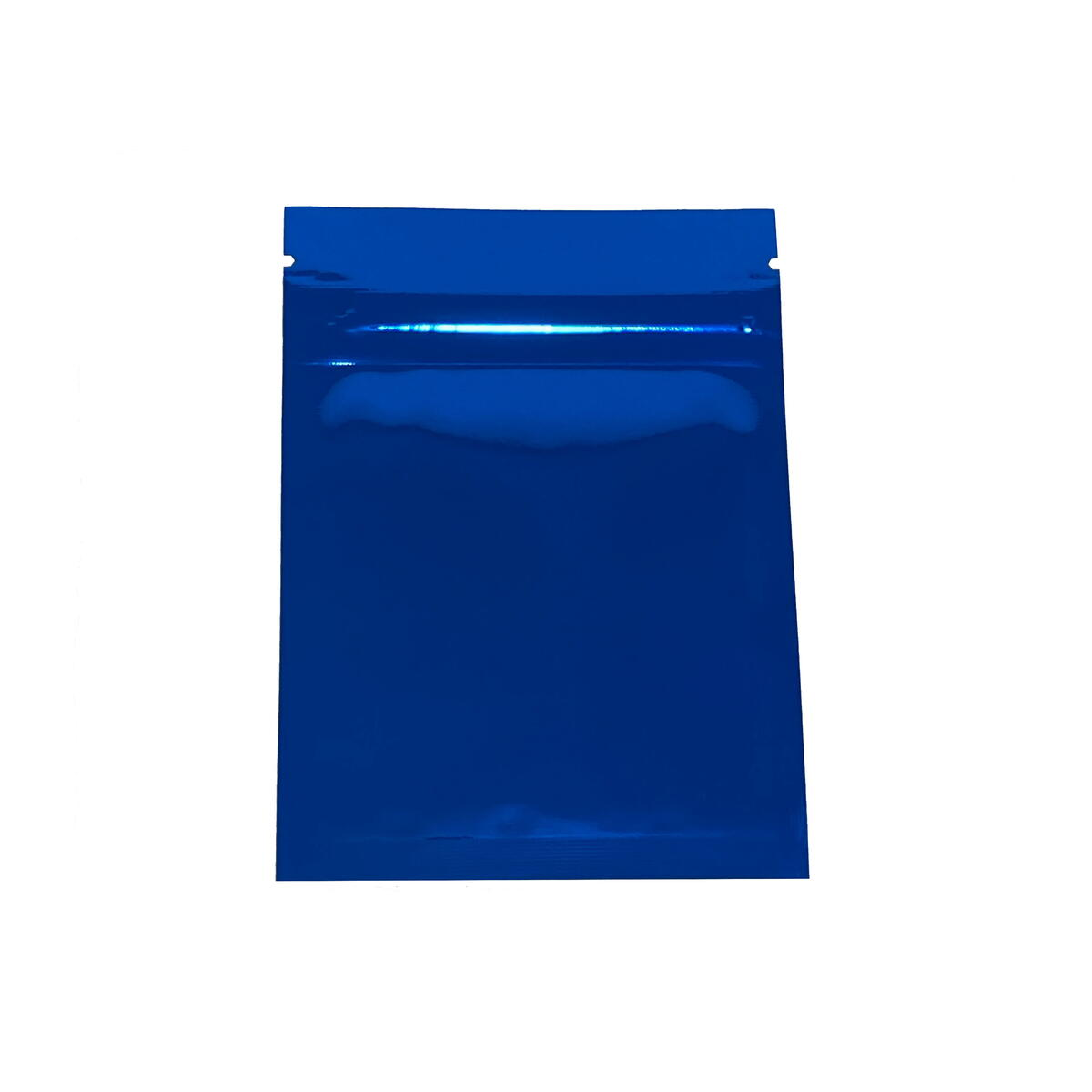 "Smell Proof Flat Ziplock Double-Sided Reusable Mylar Foil Storage Bags 3x4"" (Glossy Blue)"