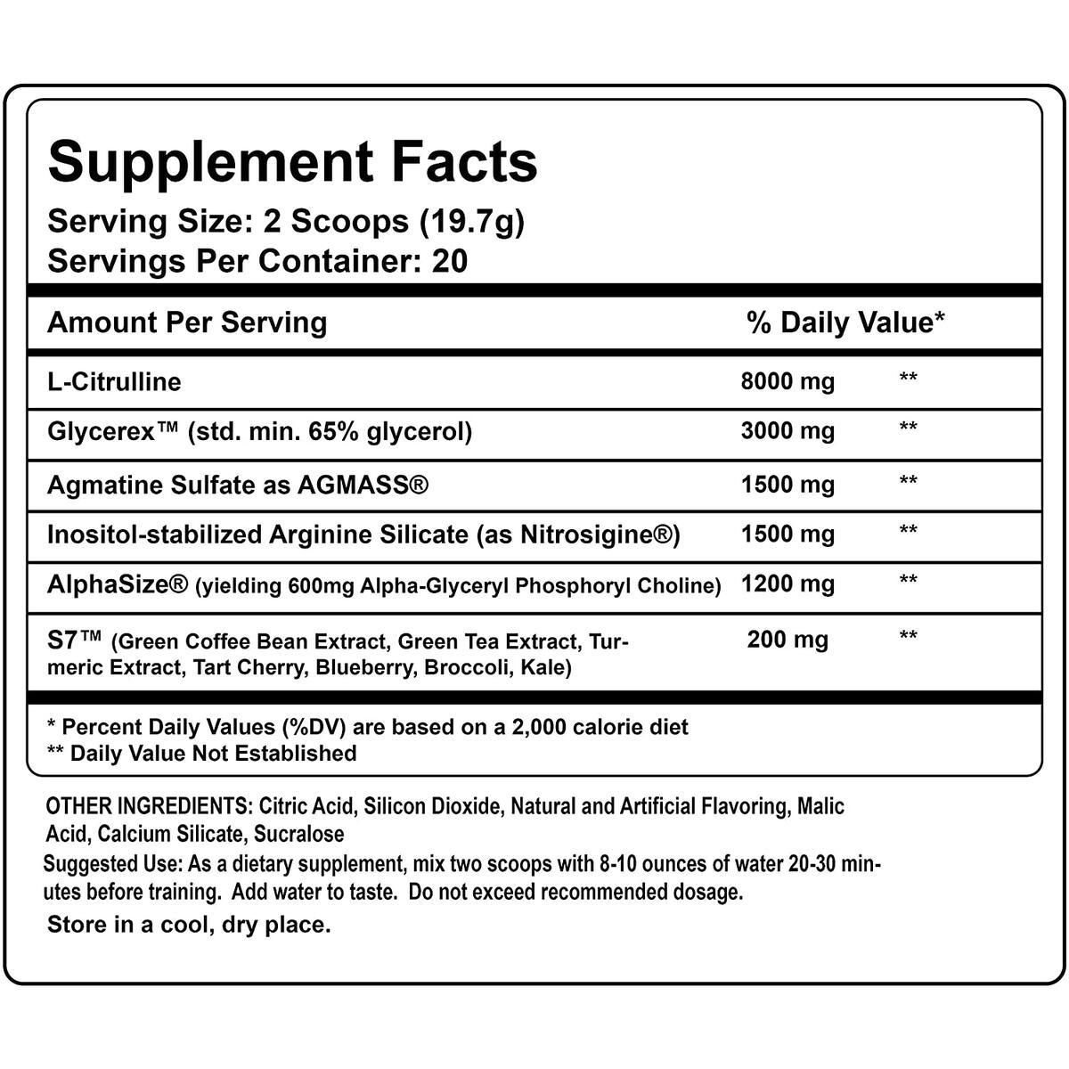 Vascular Homicide - Stim Free Preworkout - Nitric Oxide Boosting Pump Supplement