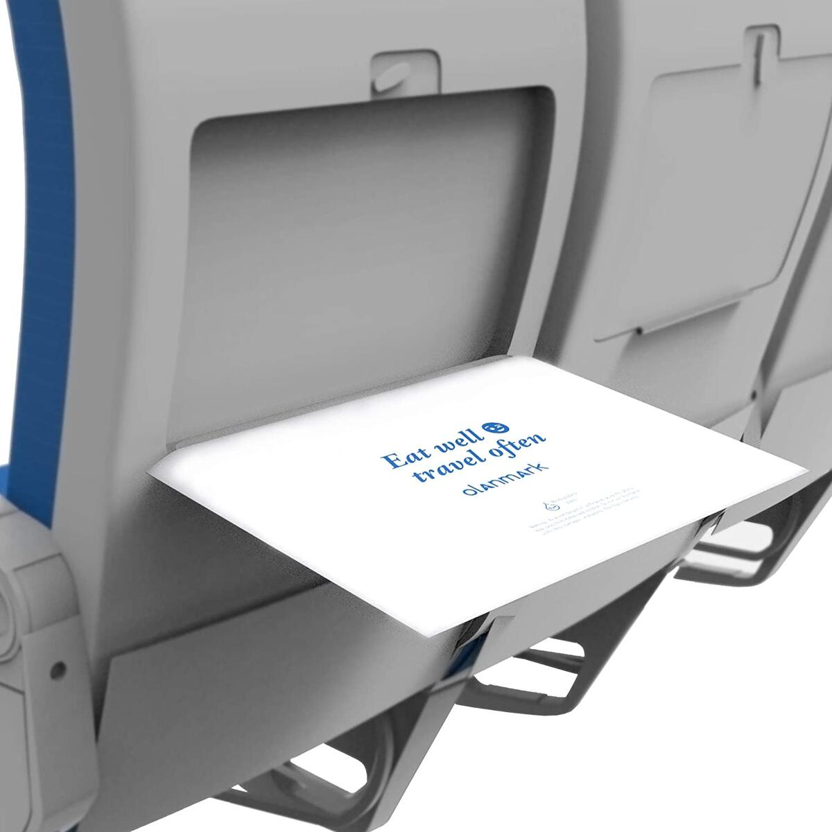 10 Pack Disposable Airplane Tray Covers Set - Each Airplane Travel Table Cover Is Individually Packed