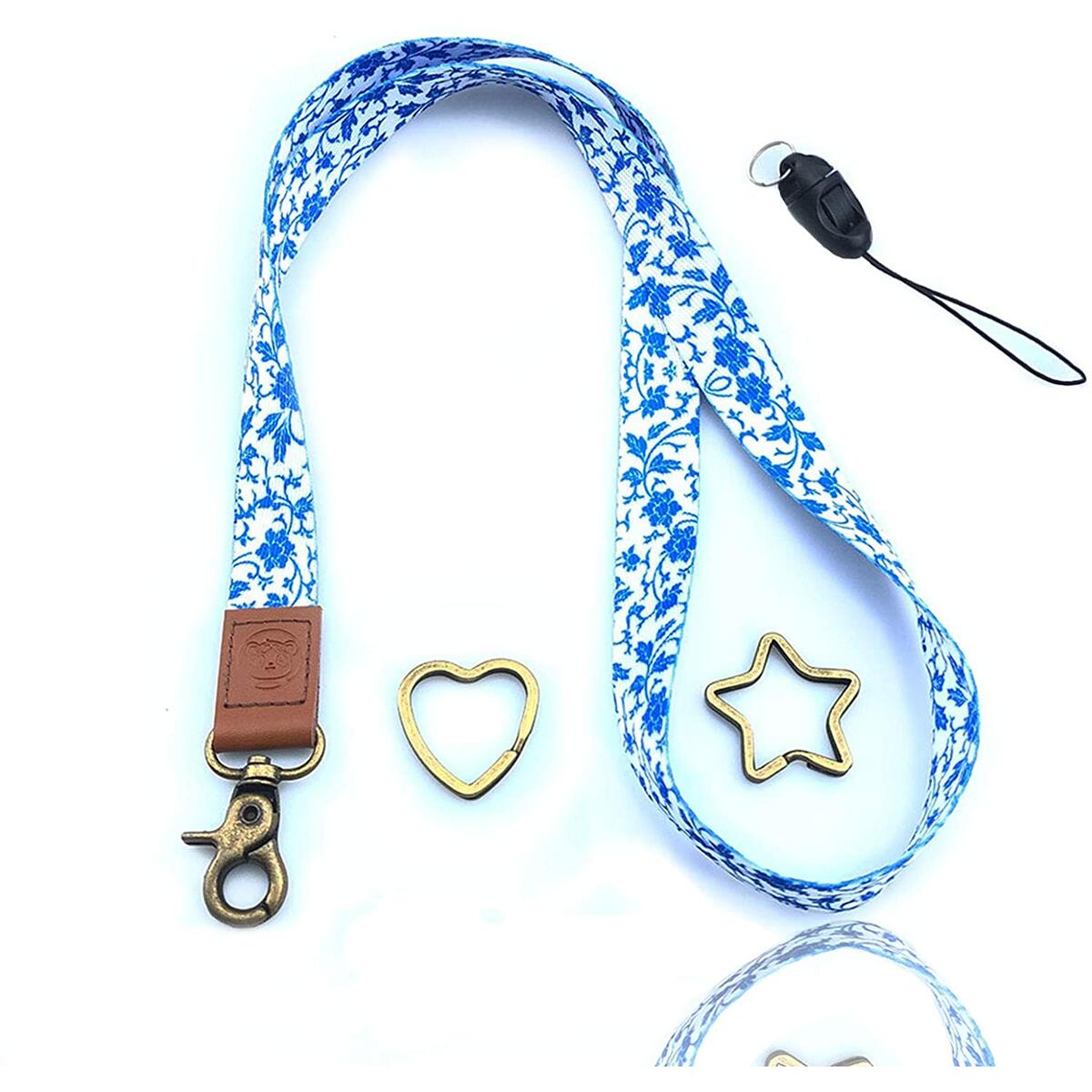 Cute Lanyard Cool Key Chain Accessories ID Badge Card Holder Leather Keychains Neck Strap