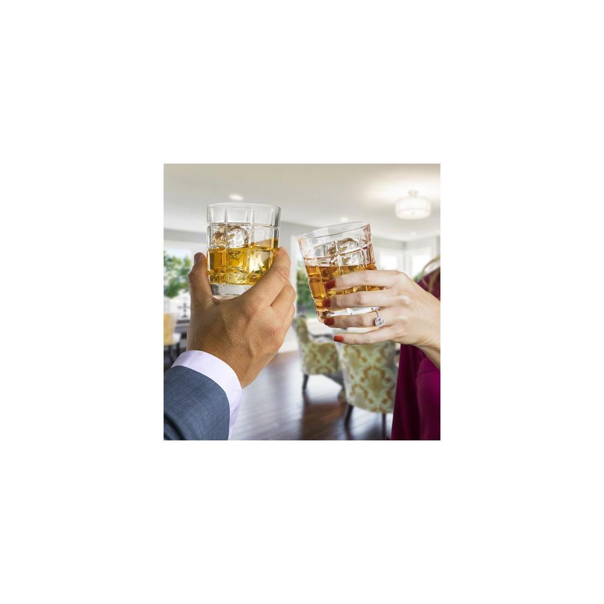 Square Engraved Whiskey Glass Set