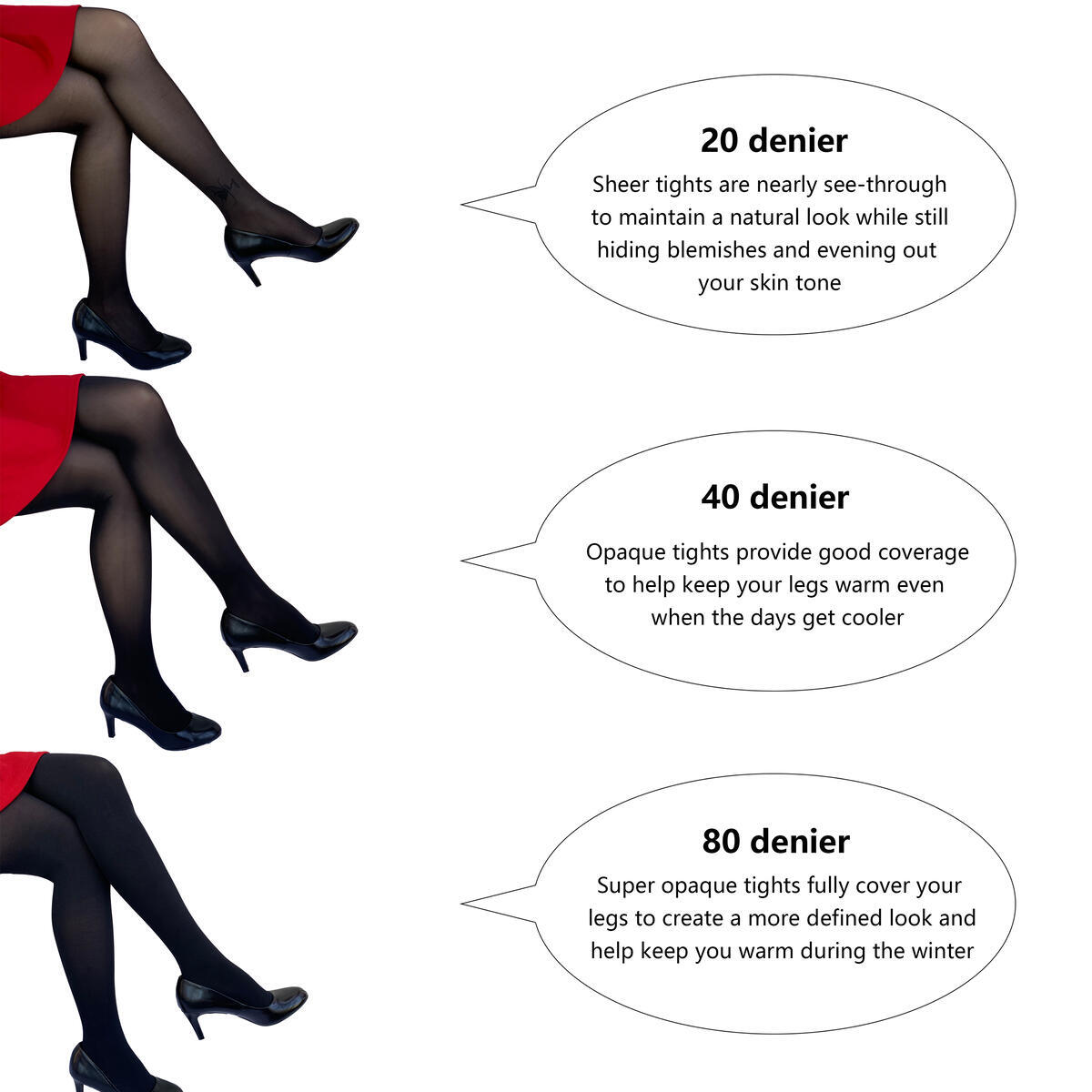 Gift Set For Women's Tights. 3 different popular Thickness Pantyhose Sexy Luxury Fashion Girls Ladies Freesize