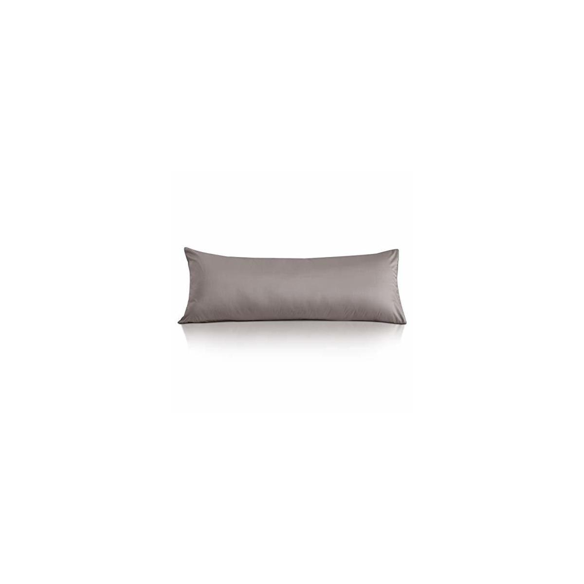 Leeden Cotton Body Pillow Cover, 800 Thread Count, Ultra Soft and Breathable Body Pillowcase for Adults, Envelope Closure, 21