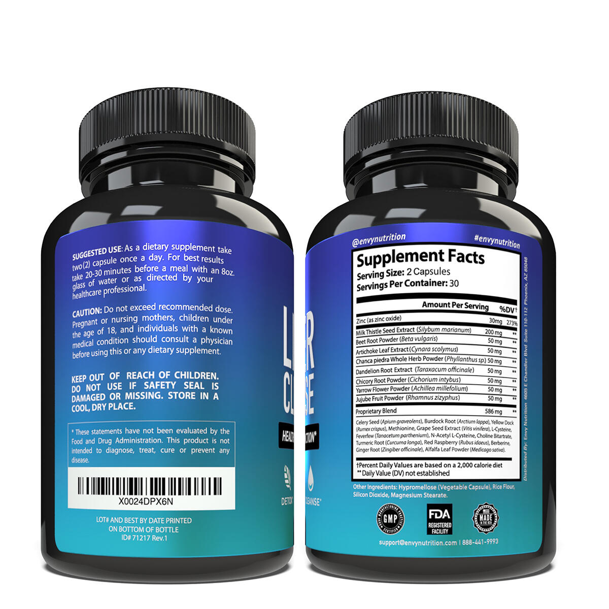 Liver Cleanse - Healthy Liver Function & Detox Supplement - Milk Thistle, Silymarin, Beet, Artichoke, Dandelion, and Chicory for Enhanced Liver Support - 60 Capsules