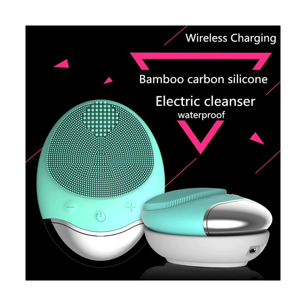SkinAngel Electric Bamboo Charcoal Silicone Cleanser Massager